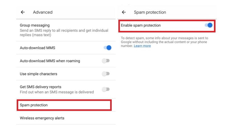 Spam Protection for Android | Spam Protection for Messaging App