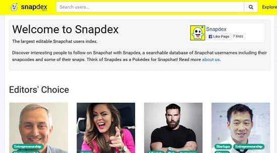 snapdex instagram Username search